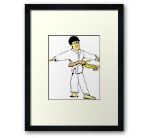 Yellow Belt Framed Print