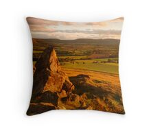 Cleveland Hills from Park Nab, Kildale, North Yorkshire Moors Throw Pillow