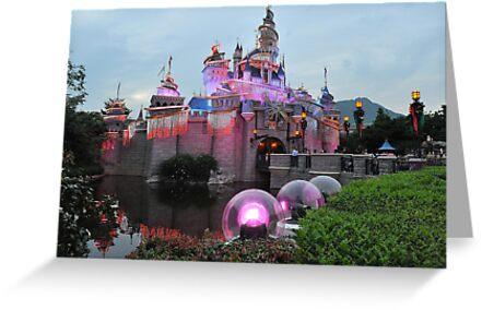 The Sleeping Beauty Castle. Disneyland, Hong Kong. by Ralph de Zilva