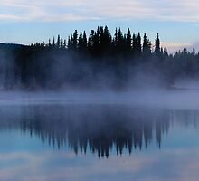 Mist on Cache Lake by Paul Weston