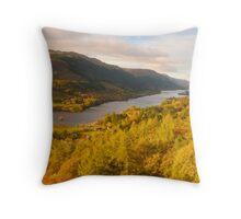 Loch Voil & The Balquhidder Braes, Balquhidder, Loch Lomond & The Trossachs, Scotland Throw Pillow