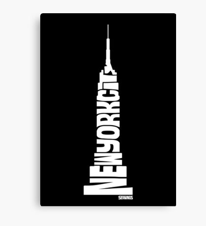 New York City: Empire State Building White Canvas Print