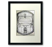 pencil & paper: lavabo  Framed Print
