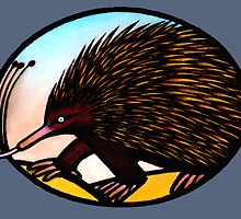 Australian Echidna - Print & Cards by Kim  Lynch