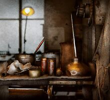 Machinist - Tool - Got Oil by Mike  Savad