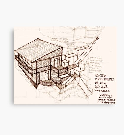 pencil & paper: architecture in loco Canvas Print
