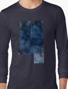 Blue Abstract Painting Long Sleeve T-Shirt