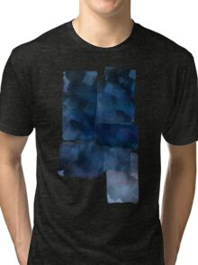 Blue Abstract Painting Tri-blend T-Shirt