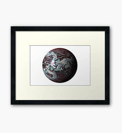 Marmoreal World Framed Print