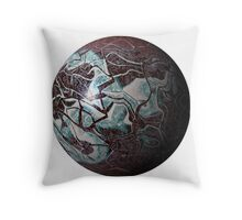 Marmoreal World Throw Pillow