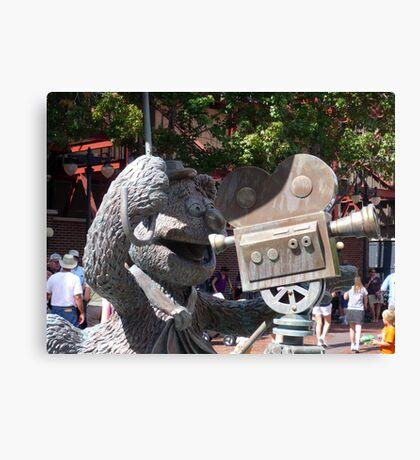 Fozzy Bear Statue Canvas Print