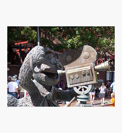 Fozzy Bear Statue Photographic Print
