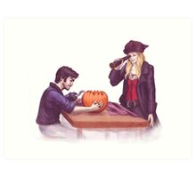 Captain Swan Halloween Art Print