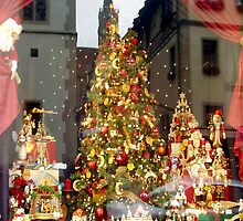 Christmas display with reflections of Rothenburg by Arie Koene