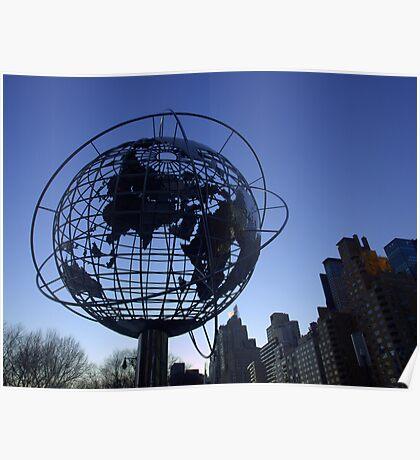 New York City World Poster