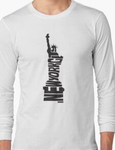 New York City: Statue of Liberty Black Long Sleeve T-Shirt