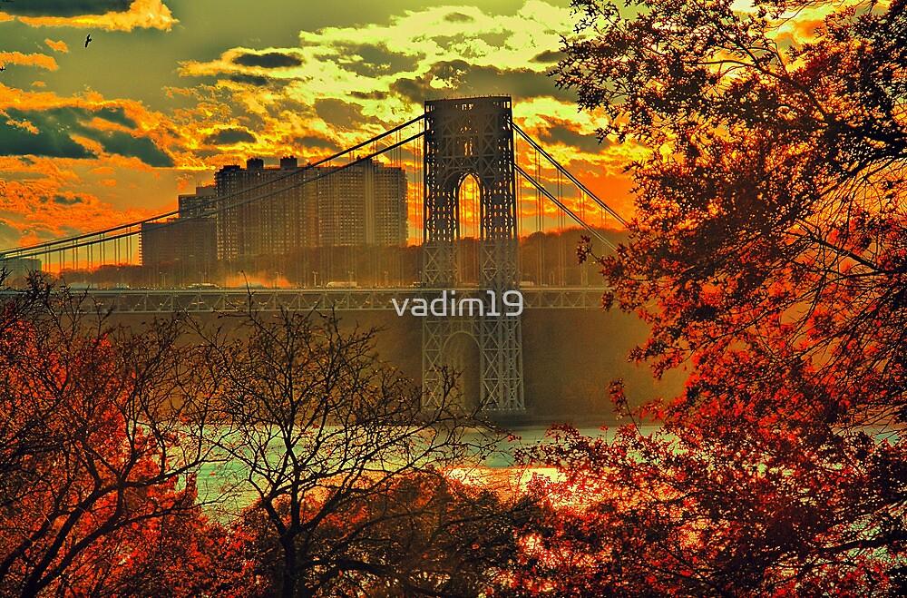 USA. New York. Hudson River. George Washington Bridge. by vadim19