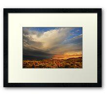 outback sky at sunrise Framed Print