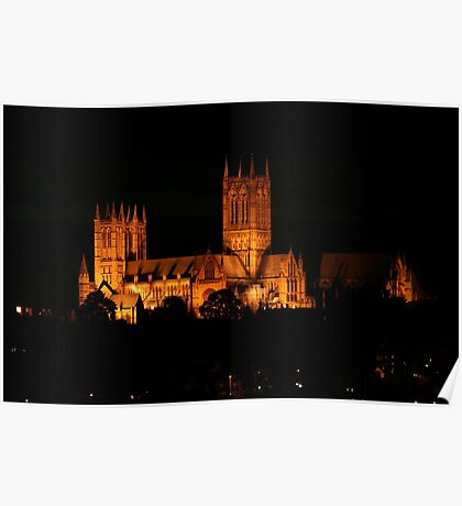 Lincoln Cathedral Night View  Poster