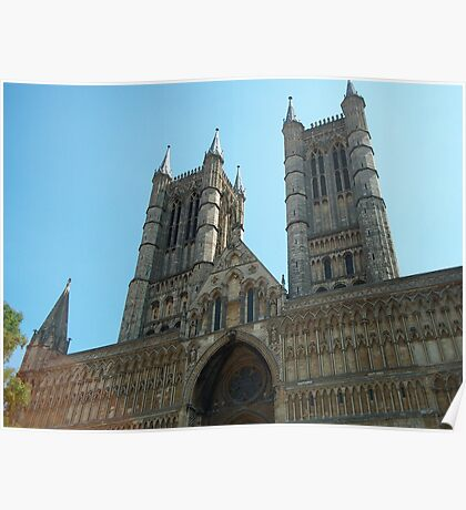 Lincoln Cathedral West Front View Poster