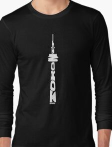 Toronto CN Tower White Long Sleeve T-Shirt