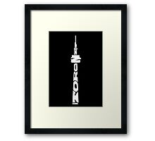 Toronto CN Tower White Framed Print