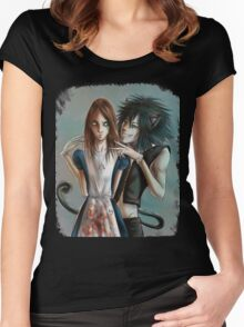 Alice & Cheshire Cat Women's Fitted Scoop T-Shirt