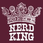 Nerd King Crown Logo (White Ink) by nerdking