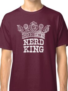 Nerd King Crown Logo (White Ink) Classic T-Shirt
