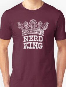 Nerd King Crown Logo (White Ink) T-Shirt