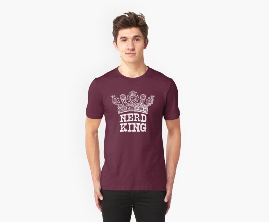 Nerd King Crown Logo (White Ink) by nerdking
