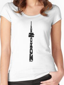 Toronto CN Tower Black Women's Fitted Scoop T-Shirt