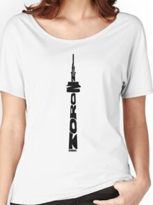 Toronto CN Tower Black Women's Relaxed Fit T-Shirt