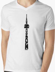 Toronto CN Tower Black Mens V-Neck T-Shirt