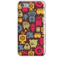 Robot and monsters. iPhone Case/Skin