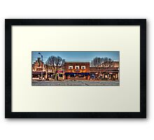 A Quiet Sunday on Broadway Framed Print
