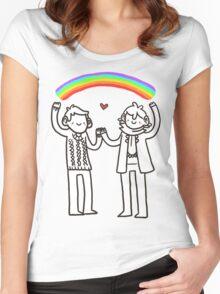 Sherlock and John: Rainbows Women's Fitted Scoop T-Shirt