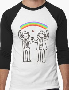 Sherlock and John: Rainbows Men's Baseball ¾ T-Shirt