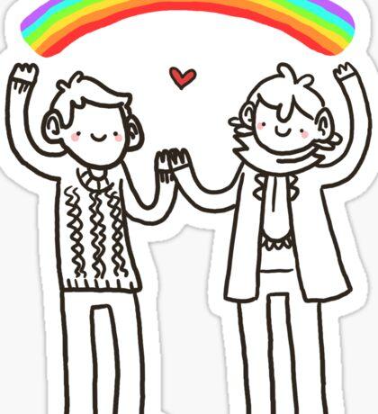 Sherlock and John: Rainbows Sticker