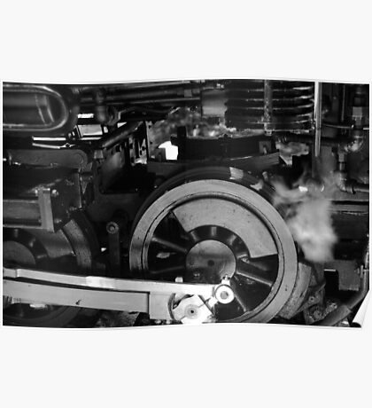 Steam Engine, Redwood Valley Railway, California Poster