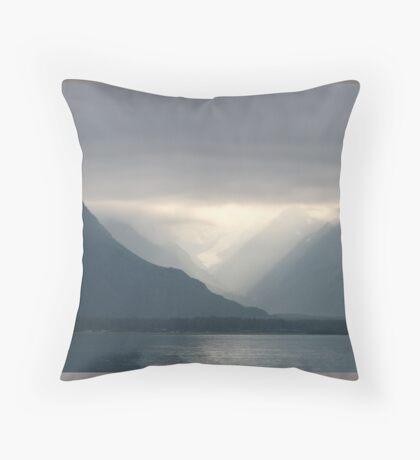 Mist in Prince William Sound--Alaska Throw Pillow