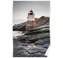 Castle Hill Lighthouse Reflection Poster
