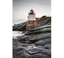 Castle Hill Lighthouse Reflection Photographic Print