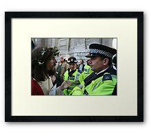 Jesus vs. The Met Framed Print