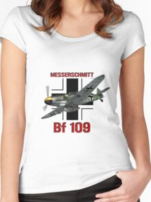 Bf 109 Fighter  Women's Fitted Scoop T-Shirt