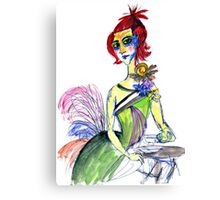 Sophisticated woman Canvas Print