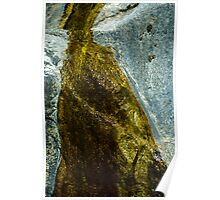 Water Stained Rocks, Grizzly Falls, California Poster
