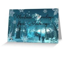Christmas in Anchorage Greeting Card