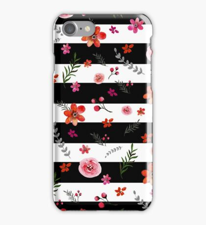 Watercolor Floral Pattern iPhone Case/Skin