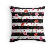 Watercolor Floral Pattern Throw Pillow
